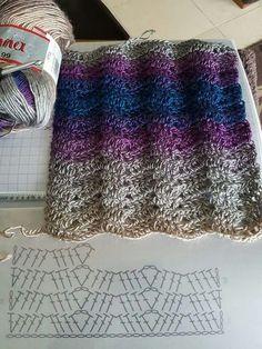 Incredibile Crochet Ripple Stitch Patterns ⋆ Crochet Kingdom Schemi di punti a increspatura all'unc. Crochet Scarf Diagram, Gilet Crochet, Crochet Ripple, Crochet Motifs, Crochet Stitches Patterns, Crochet Chart, Crochet Scarves, Crochet Lace, Stitch Patterns