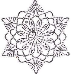 trendy Ideas for crochet granny square star beautiful Crochet Snowflake Pattern, Crochet Stars, Crochet Motifs, Crochet Snowflakes, Crochet Diagram, Thread Crochet, Crochet Granny, Crochet Doilies, Crochet Flowers