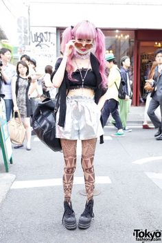 Juria Nakagawa in Bubbles Harajuku Fashion