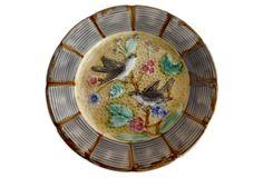 Majolica    Birds Wall Plate