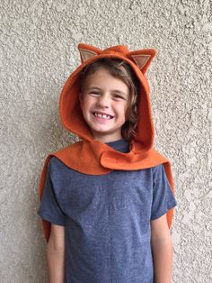 Fox Cape Halloween Costume or Dress Up Cape by SevenWhiteRabbits