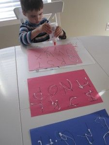 Glue Tracing Letters