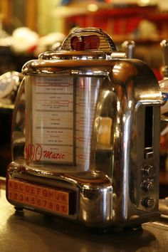 these were fun - very common in diners and other small restaurants