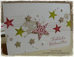 Basteln mit Papier Karten Weihnachten