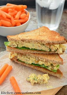 Kitchen Concoctions: Green Curry Mashed Chickpea Salad Sandwiches