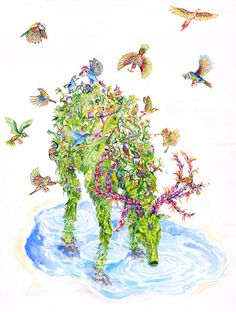 Il Suono della Coesistenza, 41x31cm watercolor on cotton paper 2014