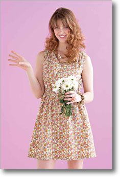 Sew up a pretty summer frock perfect for a weekend getaway. With an elastic cinched waist, this easy-fit dress is comfortable as well as figure-flattering. Make it in a fun floral print or a brightly colored solid for a quick-to-sew addition to your wardrobe.