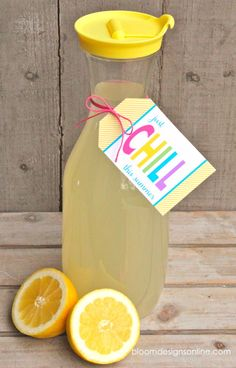 Just Chill Lemonade- make some homemade lemonade and add cute tag for summer hostess gift