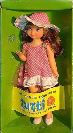 Tutti was the last edition to my Barbie collection before I got to old to play with them anymore.