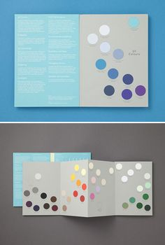 Created for Colorplan by London studio Made Thought, this swatch book has a fabulous mixture of functional elements and beautiful book design.