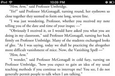 I would love to have this conversation with our state superintendent.  LOL  I will teach like Professor McGonagall.