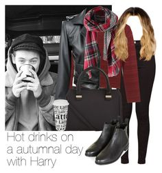 """Hot drinks on a autumnal day with Harry"" by style-with-one-direction ❤ liked on Polyvore featuring American Apparel, Rebecca Minkoff, Victoria Beckham, Topshop, Könitz, OneDirection, harrystyles, 1d and harry styles one direction 1d"