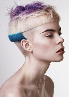 head shapes that is #shaved and a #solid for haircut through the top. #Colour accents the cut