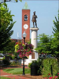 Spartanburg, SC - Visit Spartanburg.... Daniel Morgan Square. . . The Clock Tower is filled with names.