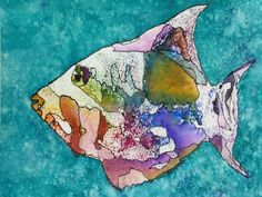 watercolor: Reed's Other Fish by Jo Dunnick