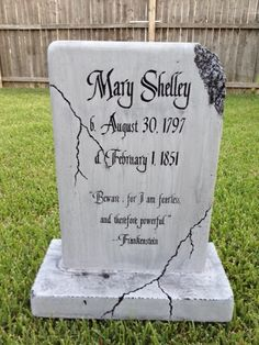 awesome gravestone idea would have to make it so the stone was being held together with bolts and brackets much more fitting