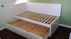 Childrens beds guest bed and bed frames on pinterest - Lit gigogne double ikea ...