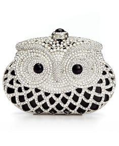 Sasha Jeweled Owl Minaudiere Clutch Pinned by www.myowlbarn.com