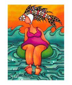 """Swim Cap"" by Holly Kitaura"