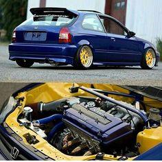 Ek hatchback Honda Civic Vtec, Civic Jdm, Honda Civic Hatchback, Vtec Engine, Honda Motors, Honda Fit, Honda Cars, Japan Cars, Jdm Cars