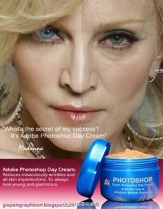 *NEW* Adobe Photoshop Day Cream! We have to try this one @Sabra Libertore!! Look years younger in minutes! Ha, ha....