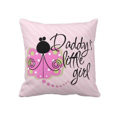 Daddy's Little Girl Pink Play Pillow- Double sided
