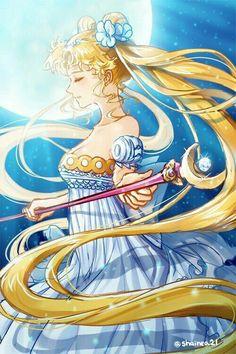 Hermosa Princesa Serena con cetro lunar