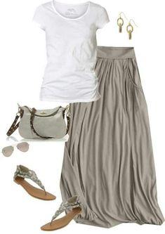 maxi falda