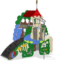 The climbing wall and easy access invite climbers to choose their own way to reach the top. The climbing wall challenges children's problem solving abilities Ugly Duckling, Climbing Wall, Autocad, Being Ugly, Playground, 3d, Christmas Ornaments, Holiday Decor, Model
