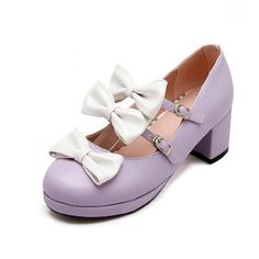 29.16$  Know more  - Plus Size 34~43 Girls Sweet Pink White Bow Women's Lolita Mary Janes Pumps Ankle Strap Mid Heel Princess Shoes Woman