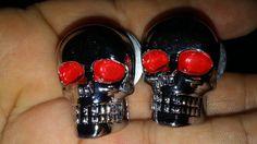 SimSam License Plate Fasteners Skeleton Skull Red Eye Motorcycle Tag Frame Bolt/Nuts fits Harley Davidson Pr http://amzn.to/2rl1h7l  #SimSam