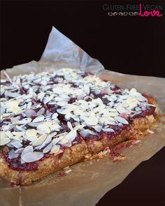 Gluten-Free Vegan Raspberry Almond Squares {also Paleo & Refined Sugar-Free}  #GlutenFreeVeganLove