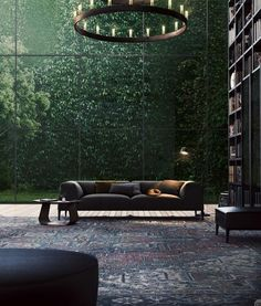 10 gorgeous home libraries that perfectly merge books and nature.