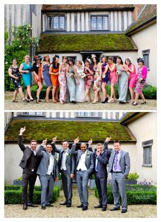 Hen/stag group shot ideas at Dove Barn