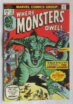 Where Monsters Dwell #28 (May 1974, Marvel) FN- 5.5