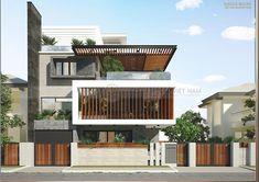 Modern Exterior House Designs, Modern House Facades, Modern Villa Design, Bungalow Exterior, Modern Architecture House, 3 Storey House Design, Bungalow House Design, House Front Design, Architect Design House