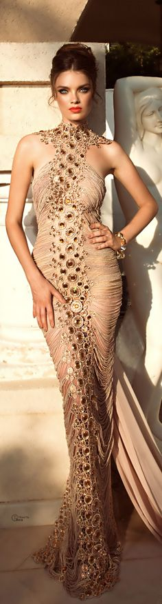 """gold glamour gown  (=^.^=) Thanks, Pinterest Pinners, for stopping by, viewing, re-pinning, & following my boards.  Have a beautiful day! ❁❁❁ and """"Feel free to share on Pinterest""""✮✮""""  #women #topfashion #fashionandclothingblog"""