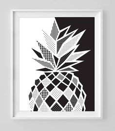 Black and white pineapple doodle zentangle art Cute Doodle Art, Doodle Art Designs, Doodle Art Drawing, Zentangle Drawings, Mandala Drawing, Zentangle Patterns, Geometric Drawing, Geometric Art, Geometric Graphic Design