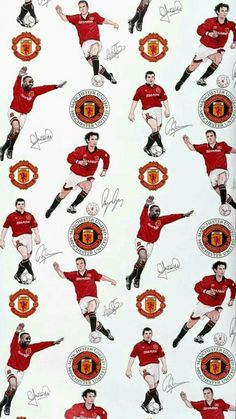 Wallpaper produced for Manchester United Football Club, colour machine print. © Victoria and Albert Museum, London Manchester United Wallpapers Iphone, Manchester United Club, Premier League, Man Utd Fc, Eric Cantona, Good Soccer Players, Football Wallpaper, Man United, Albert Museum