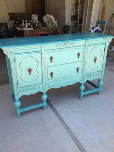 Painting and Distressing Furniture - A Well-Deserved Buffet - http://americanpaintcompany.com/painting-and-distressing-furniture-a-well-deserved-buffet/