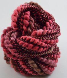 Aflutter handspun Twist and Shout art yarn 115 by bluecocoonyarn