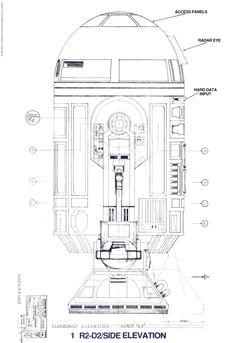 R2D2 blueprint side elevation