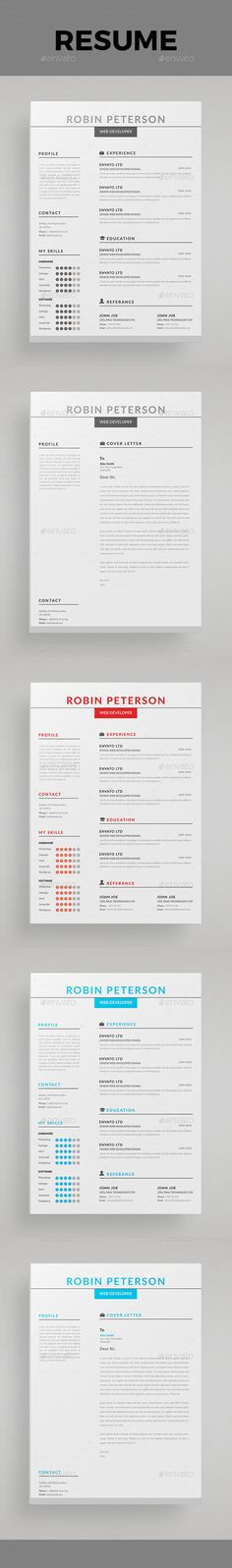 Resume Psd templates, Stationery and Cv template - business resume template word