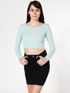 $54 Lightweight Stretch Twill High-Waist Pencil Skirt | Shop American Apparel