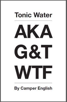Tonic Water AKA G&T WTF book