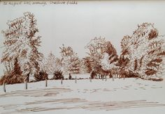 26th August, Cheshire fields Fields, Drawings, Outdoor, Sketches, Outdoors, Sketch, Outdoor Games, Drawing, Outdoor Life