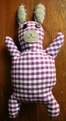 Handmade toy - rabbit / Handmade by Taja