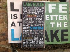 Règles de lac signent, fun couleurs