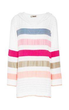 Striped V-Neck Gola Hoodie by Lemlem Now Available on Moda Operandi
