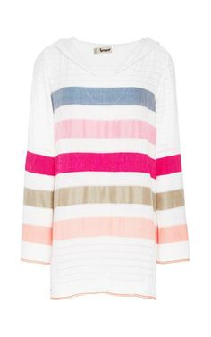 Striped V-Neck Gola Hoodie by Lemlem Now Available on Moda Operandi